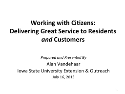 Working with Citizens: PowerPoint PPT Presentation