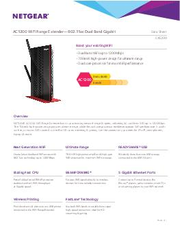 Boost your existing WiFi Overview NETGEAR AC WiFi Range Extender boosts your existing network range  speed delivering AC dual band WiFi up to Mbps
