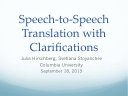 Speech-to-Speech Translation with Clarifications