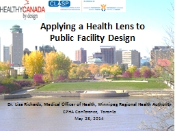 Applying a Health Lens to