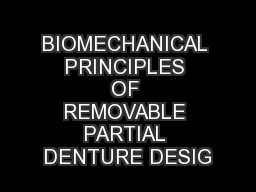principles of a removable partial denture View lab report - rpd seminars from pros 101 at university of iowa basic design principles for removable partial dentures university of iowa college of dentistry.