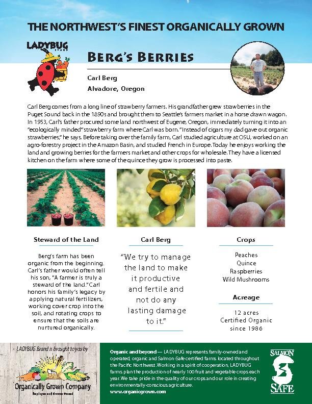 Berg's BerriesCarl Berg comes from a long line of strawberry farm
