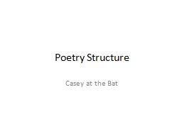 Poetry Structure