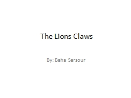 The Lions Claws PowerPoint PPT Presentation