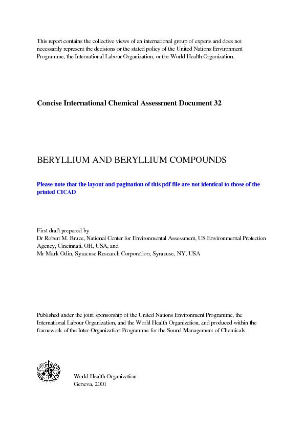 This report contains the collective views of an international group of