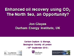 Enhanced oil recovery using CO