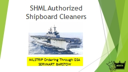 SHML Authorized Shipboard Cleaners