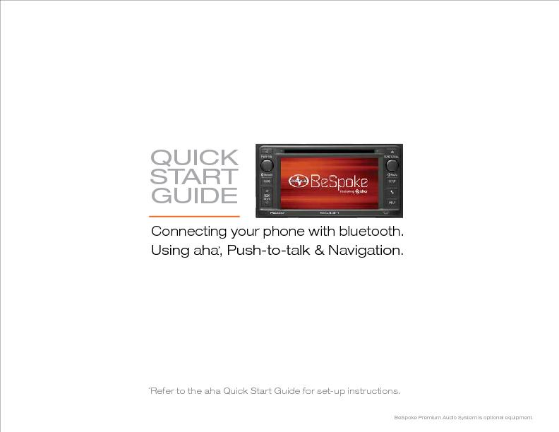 QUICK STARTGUIDEConnecting your phone with bluetooth.Using aha, Push-t PowerPoint PPT Presentation