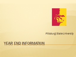 Year End Information PowerPoint PPT Presentation