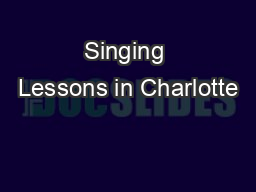 Singing Lessons in Charlotte