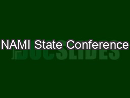 NAMI State Conference