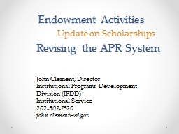 Endowment Activities PowerPoint PPT Presentation