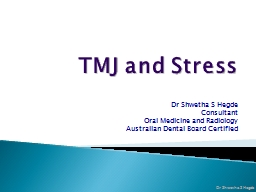 TMJ and Stress PowerPoint Presentation, PPT - DocSlides