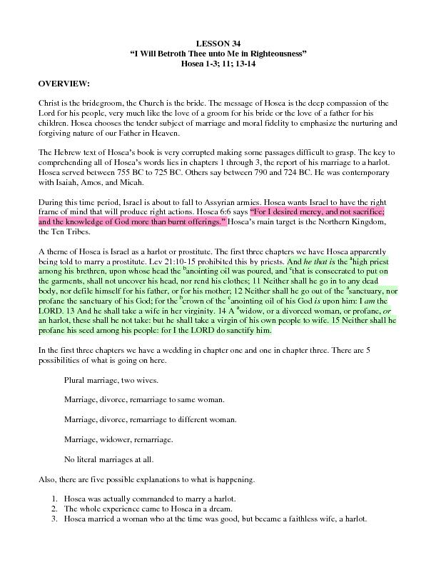 WillBetrothTheeuntoMeinRighteousness PDF document - DocSlides