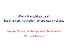 Wi-Fi Neighborcast: PowerPoint Presentation, PPT - DocSlides