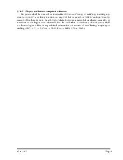 2.  Players and betters competent witnesses. PDF document - DocSlides