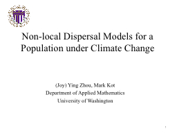 Non-local Dispersal Models PowerPoint Presentation, PPT - DocSlides