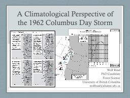 A Climatological Perspective of the 1962 Columbus Day Storm PowerPoint PPT Presentation