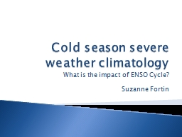 Cold season severe weather climatology PowerPoint Presentation, PPT - DocSlides