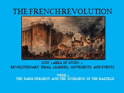 THE FRENCH REVOLUTION PowerPoint Presentation, PPT - DocSlides