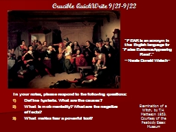 Crucible QuickWrite 9/21-9/22 PowerPoint Presentation, PPT - DocSlides