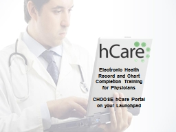 Electronic Health Record and Chart Completion Training for PowerPoint Presentation, PPT - DocSlides