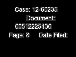 Case: 12-60235      Document: 00512225136     Page: 8     Date Filed: PDF document - DocSlides