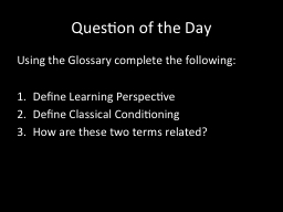 Question of the Day PowerPoint Presentation, PPT - DocSlides