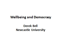 Wellbeing and Democracy PowerPoint Presentation, PPT - DocSlides