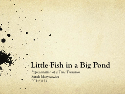 Little Fish in a Big Pond PowerPoint Presentation, PPT - DocSlides