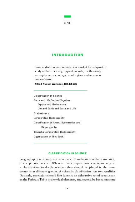 """Classi"""" cation in ScienceEarth and Life Evolved TogetherExplanato PDF document - DocSlides"""