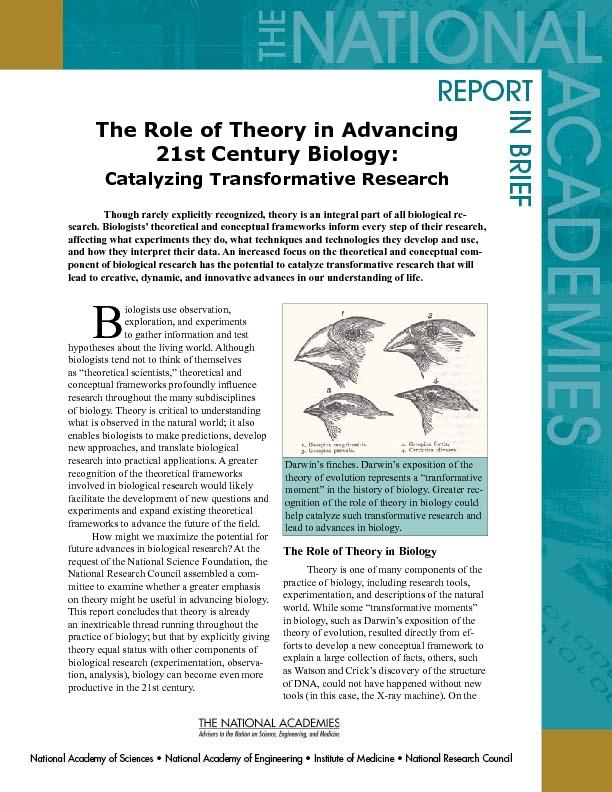 The Role of Theory in Advancing PDF document - DocSlides
