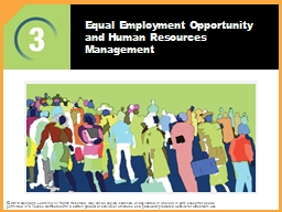 Equal Employment Opportunity and