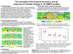 The strength of the tropical inversion and its response to