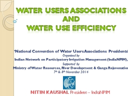 Water Users Associations