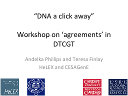"""""""DNA a click away"""" PowerPoint PPT Presentation"""