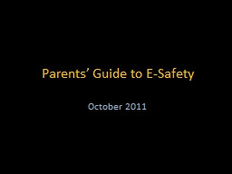 Parents' Guide to E-Safety