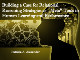 Building a Case for Relational Reasoning Strategies as