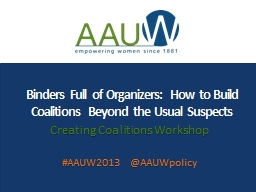Binders Full of Organizers: How to Build Coalitions Beyond
