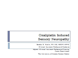 Oxaliplatin Induced