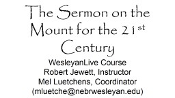 The Sermon on the Mount for the 21