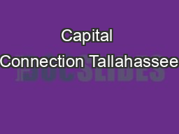 Capital Connection Tallahassee