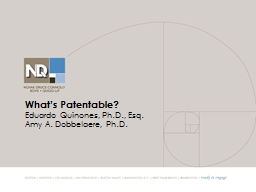 What's Patentable