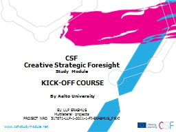 CSF Creative Strategic