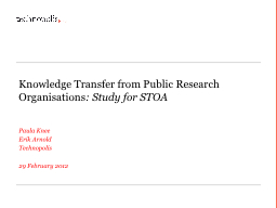Knowledge Transfer from Public Research