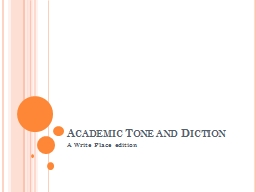 Academic Tone and Diction