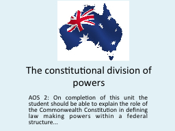 The constitutional division of powers