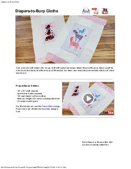 Diapers-to-Burp Clothsfile:///F|/Source/ELProjects/html/PR1006.html[9/ PDF document - DocSlides
