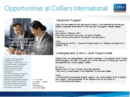Opportunities at Colliers International PowerPoint PPT Presentation