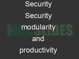 Defense Space  Security Security modularity and productivity delivered in one tr